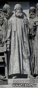 Патриарх Никон на Памятнике «1000-летие России» в Великом Новгороде