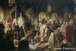 Василий Перов Никита Пустосвят. Спор о вере. 1880-1881г.